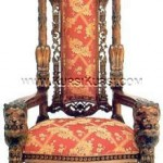 Kursi Raja Ukir Singa KKD 924