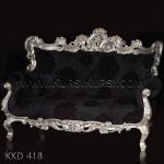 Kursi Ukir Sofa Silver KKD 418