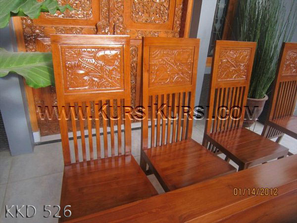 Model Kursi Makan Ukiran Head KKD 526