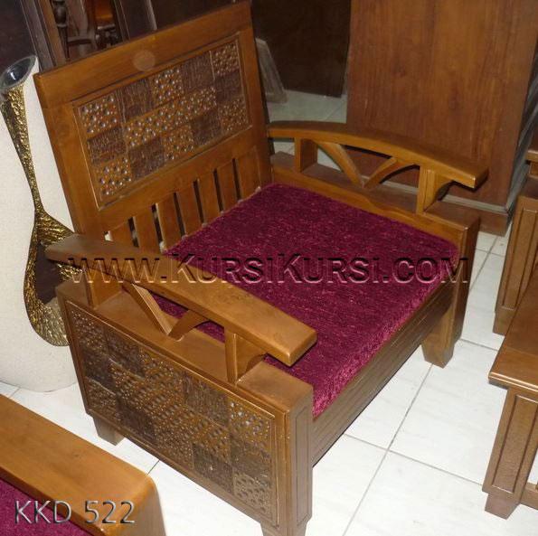 Model Kursi Tamu Kayu Becak KKD 522