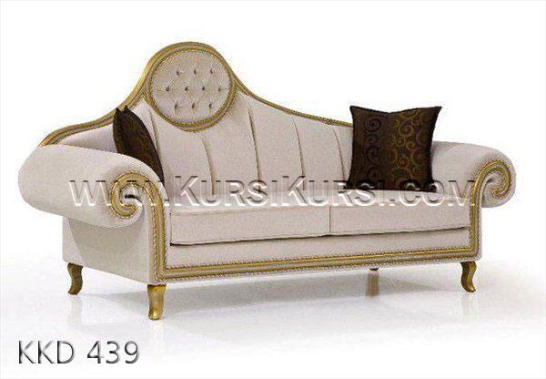 Sofa Bundar Kayu Mahony KKD 439