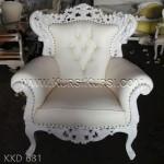Kursi Sofa Ukiran Duco Putih KKD 681