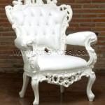 Ukiran Kursi Sofa Duco Putih KKD 666