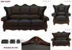 Black Sofa Set Kursi Tamu Kayu Jati Jepara Kode ( KKS 487 )