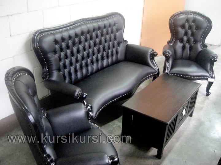 Black Tail Set Kursi Tamu Sofa Modern