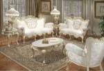 Furniture Duco Putih Sofa Ukir Set Kode ( KKS 500 )