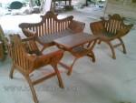 Furniture Kayu Jati Set Kursi Tamu Yuyu Sandaran Lengkung Kode ( KKS 505 )