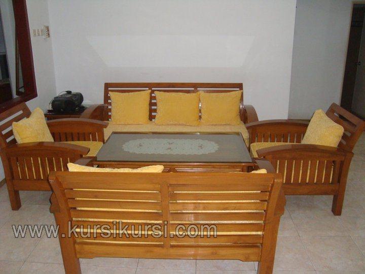 Furniture Minimalis Jati Set Kursi Tamu Jok Busa