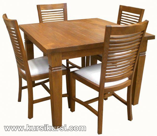 Furniture Minimalis Set Kursi Meja Makan Mebel Jepara