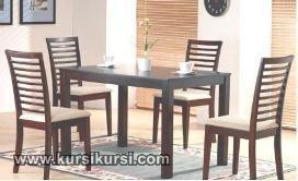 Furniture Set Kursi Meja Makan Minimalis Jati Jepara