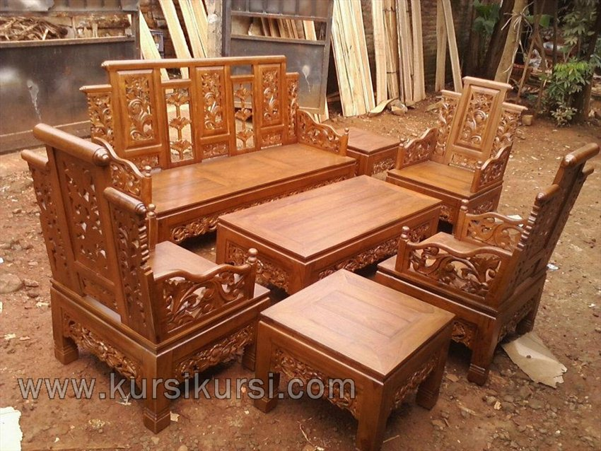 Hongkong Furniture Set Kursi Tamu Jati
