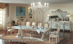 Italian Furniture Kursi Set Meja Makan Duco Jepara