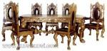Italian Furniture Set Kursi Meja Makan Mewah Ukiran Jepara ( KKS 139 )