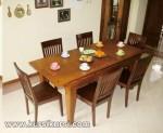 Jual Set Kursi Makan Minimalis Kayu Jati ( KKS 148 )