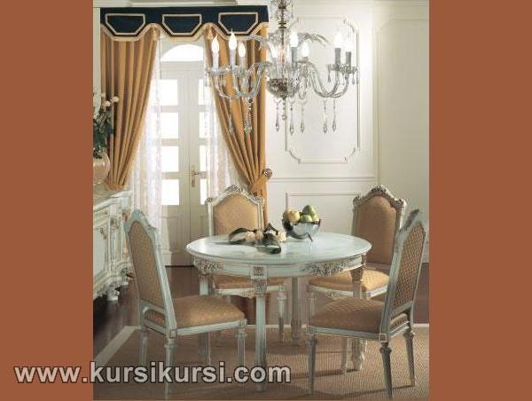 Kursi Duco Putih Set Kursi Meja Makan Jepara