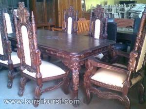 Kursi Raja Set Kursi Meja Makan Furniture Jepara