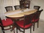 Mebel Kayu Set Kursi Makan Banteng Kayu Jati Jepara Furniture Kode ( KKS 195 )