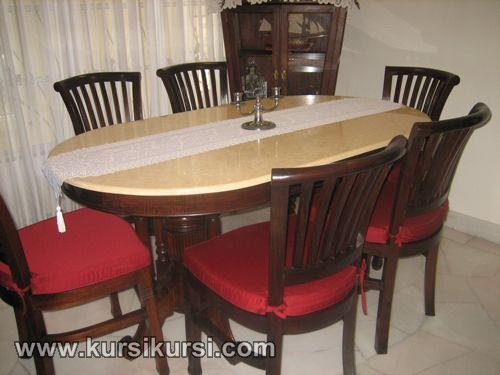 Mebel Kayu Set Kursi Makan Banteng Kayu Jati Jepara Furniture