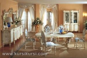 Model Klasik Set Kursi Meja Makan Furniture Jepara