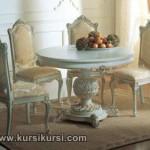Round Table Set Kursi Meja Makan Duco Jepara