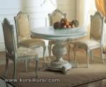 Round Table Set Kursi Meja Makan Duco Jepara Kode ( KKS 243 )