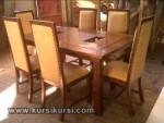 Set Kursi Makan Busa 6 Kursi Furniture Kayu Kode ( KKS 252 )