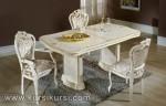 Set Kursi Makan Duco Putih Jepara Ukir Kode ( KKS 256 )