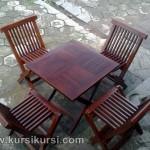 Set Kursi Makan Lempit Outdoor dan Indoor