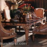 Set Kursi Makan Mewah Model Klasik