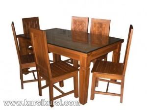 Set Kursi Meja Makan Kawung 6 Kursi