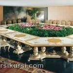 Set Kursi Meja Makan Meeting Duco Putih