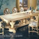 Set Kursi Meja Makan Mewah Duco Putih
