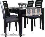 Set Kursi Meja Makan Minimalis 4 Kursi Black Doff Kode ( KKS 398 )