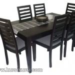 Set Kursi Meja Makan Minimalis 6 Kursi Black Doff