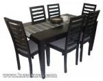 Set Kursi Meja Makan Minimalis 6 Kursi Black Doff Kode ( KKS 399 )