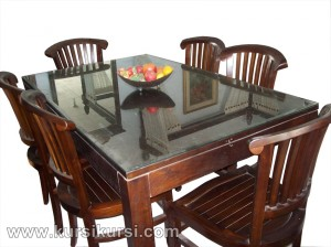 Set Kursi Meja Makan Minimalis Banteng Kayu Jati