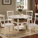 Set Kursi Meja Makan Minimalis Duco Putih