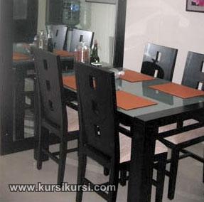 Set Kursi Meja Makan Minimalis Kursi Lubang 3