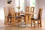 Set Kursi Meja Makan Minimalis Tengah Jok dan Lubang Kode ( KKS 449 )