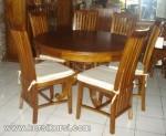 Set Kursi Meja Makan Oval Jepara Kode ( KKS 458 )