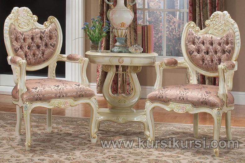 Set Kursi Teras Duco Putih Jepara