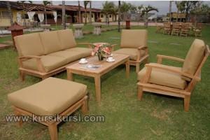 Teak Garden Sofa Furniture Jepara Set Kursi Taman Sofa