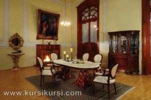 Victorian Dining Room Salak Set Kursi Meja Makan