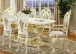 Victorian Italia Furniture Kursi Makan Set Duco Putih Kode ( KKS 476 )