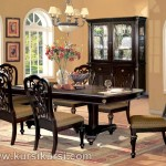 Warn Brown Furniture Kursi Set Meja Makan Ukir Jepara