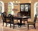 Warn Brown Furniture Kursi Set Meja Makan Ukir Jepara Kode ( KKS 477 )