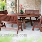 Elegant Furniture Kayu Set Kursi Tamu Jati