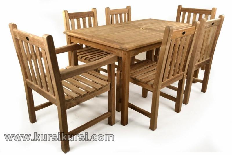 Furnitrue Garden Jepara dengan Pilihan Kayu Jati Solid 6 Kursi