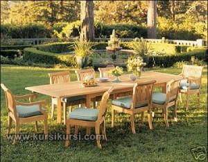 Furniture Kayu Set Kursi Taman Outdoor Furniture
