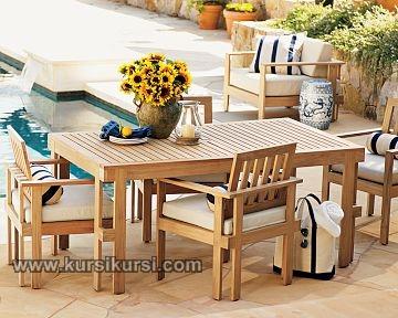 Furniture Meja Santai Set Kursi Kayu Outdor